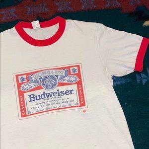 Vintage 1980s Budweiser Ringer Tee 🍻🔥